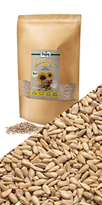 semillas de girasol crudas ecologicas organicas harina muesli frutas secas nueces sin gluten sal bio