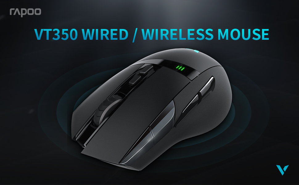 Rapoo VT350 Wired Wireless Gaming Mouse