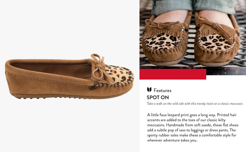 Leopard Kilty Moccasin