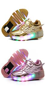 single wheel 4 colors shoes