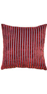 Rockefeller Lava Red Velvet Throw Pillow