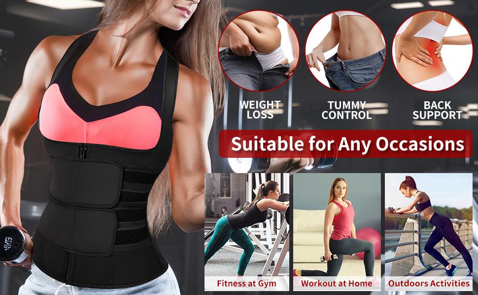 waist trimmer with 2 straps