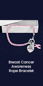 Breast Cancer Awareness Rope Bracelet