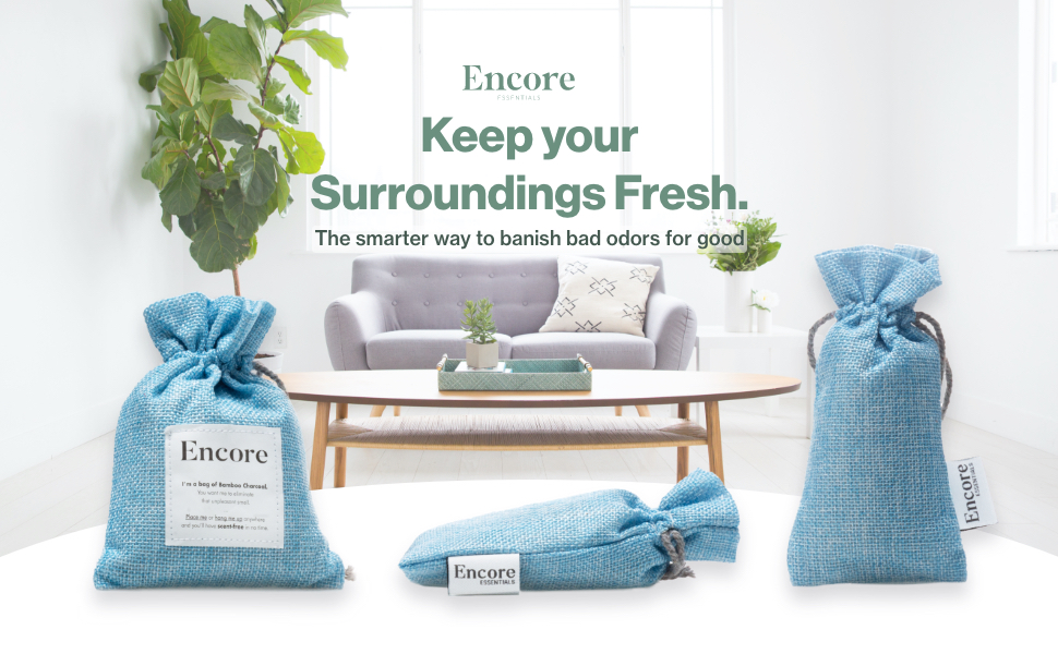 encore essentials keep your surroundings fresh charcoal bags moso bamboo