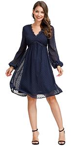 Swiss Dot Bridesmaid Dress for Women