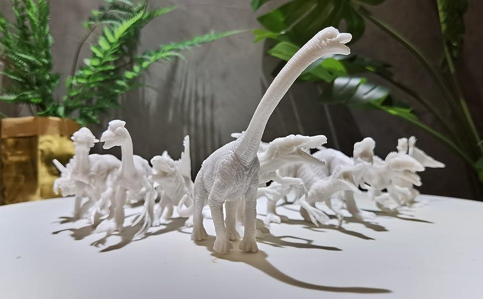 12pcs high quality white dinosaur embryos around 6.3 inches