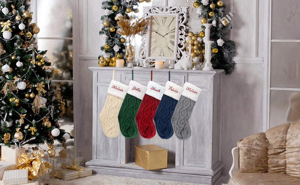 Christmas stockings 5pack set of 5 for family