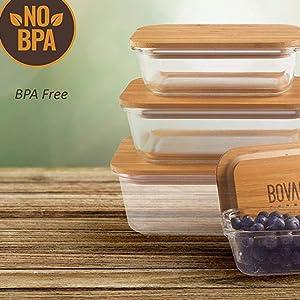 bovadousa bamboo lids glasswares