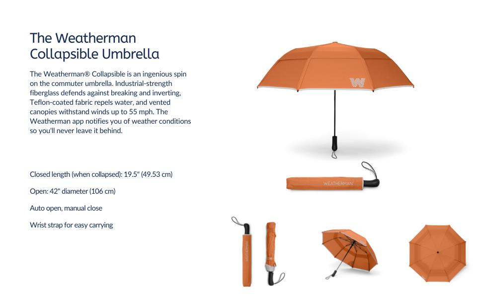 weatherman umbrella collapsible