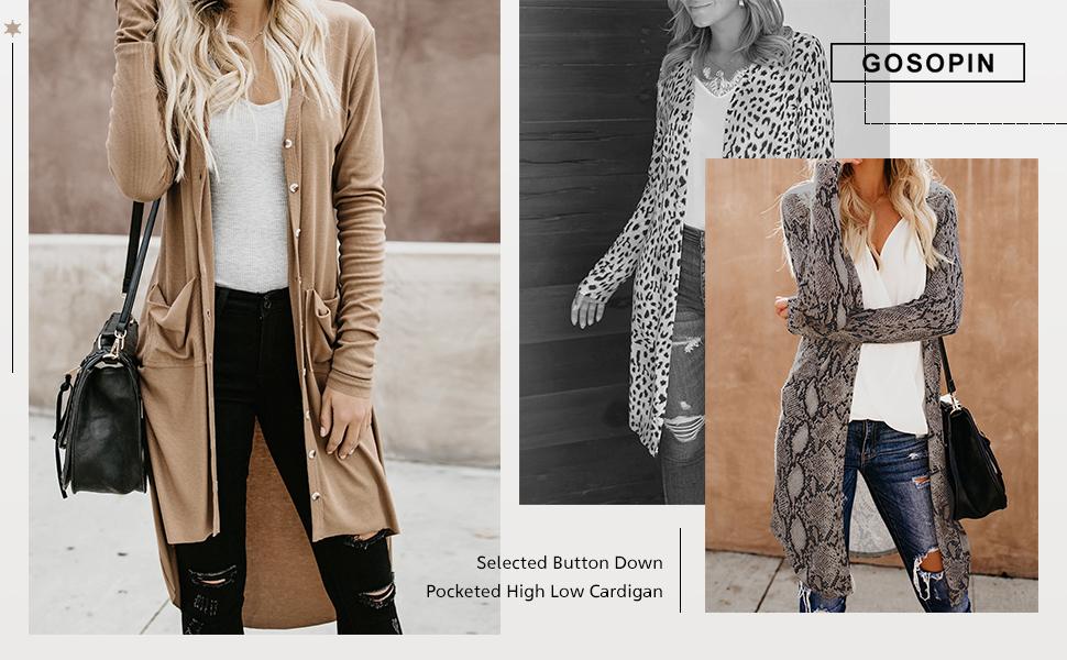 Secret Womens Long Sleeve Print Lightweight Casual Cardigans Outwear Coats
