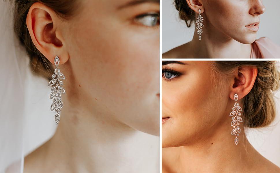 wedding earrings for brides