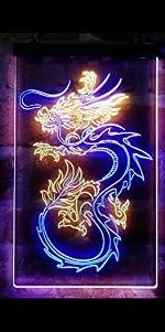 ADVPRO line-art LED neon sign light artwork man cave home decor-ation dragon Chinese tattoo Japanese