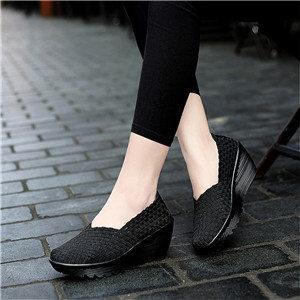 Weave Platform Heel Sandals Shoes