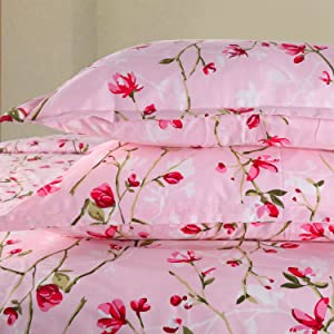 100 Cotton Double bedsheet Pink