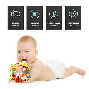 newborn rattle ball