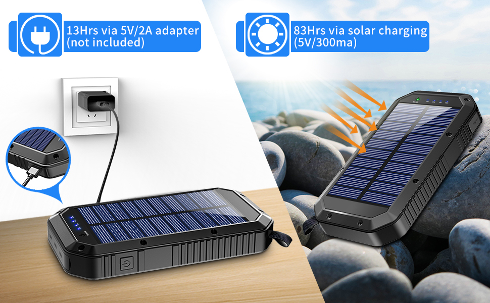 solar power power bank portable charger android phone charger portable pack battery bank for phone