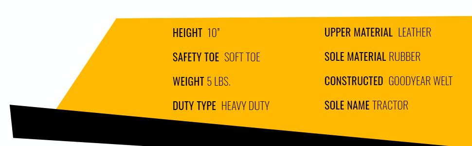 SOFT TOE BOOTS, HEAVY DUTY, LEATHER BOOTS