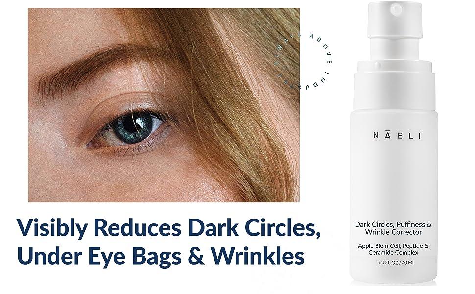 eye cream for women men restore reduce apple stem cell peptides swelling de-puff youthful appearance