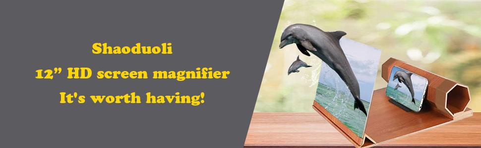 "Shaoduoli 12"" HD screen magnifier,It's worth having!"