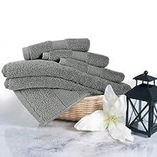 washcloths and hand towel