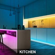 led strips lights for kitchen