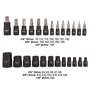 Quality Heat Treated S2 Alloy Steel Torx Bits Heat Treated CR-V Sockets with Corrosion-resistant
