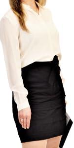 Black Straight Skirt