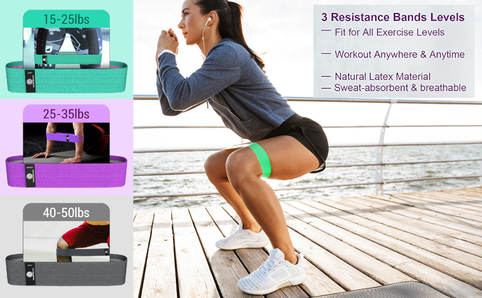 desire deluxe resistance yoga band trimed band