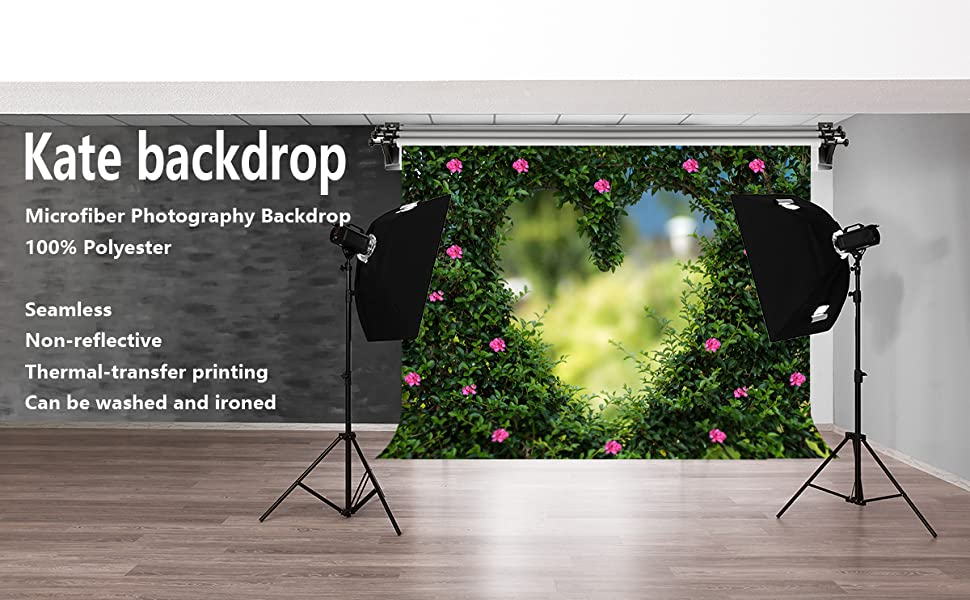 Kate 7x5ft//2.2x1.5m Wedding Theme Flower Backdrops Spring Style Grass Wood Photography Shoot Studio Props
