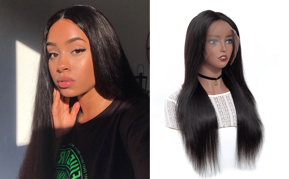 lace front human hair wigs straight