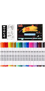 28 Colors Fabric Markers