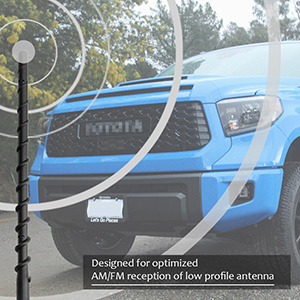 9 Inch Spiral Replacement Antenna Fits 2000-2019 Toyota Tundra