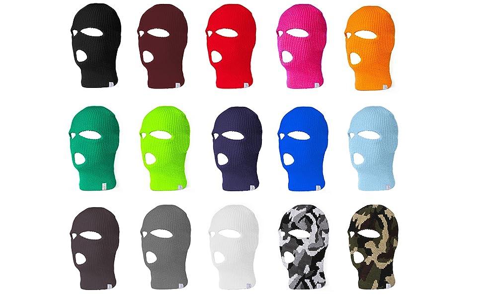 3 Hole Ski Mask Colorways
