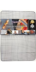 half sheet cooling rack stainless steel