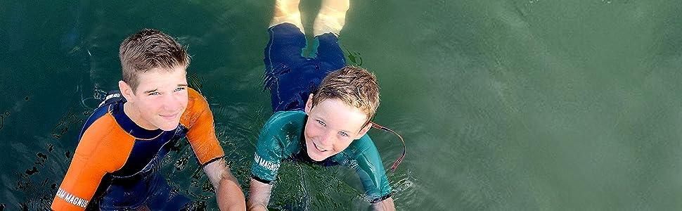 TEAM MAGNUS Traje de Surf niños - Traje de Neopreno, único con 5 ...
