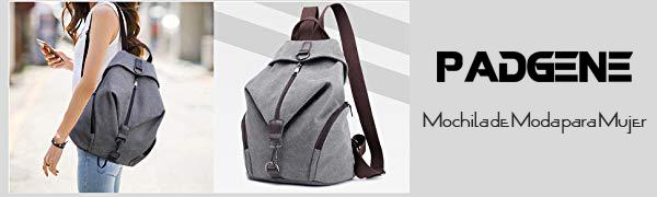 Padgene mochila bolsa mujer lona