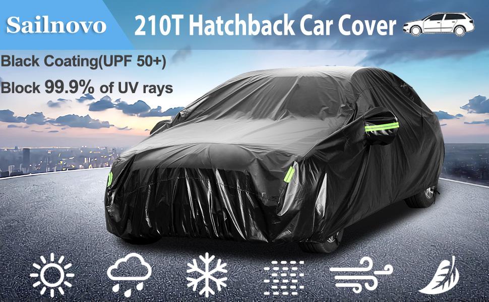 Arancia Copriauto Telo per Hyundai Tucson Copriauto Auto Impermeabile Pieghevole Resistente ad Acqua Polvere Neve Sole Freddo Copriauto con Strisce Fluorescenti