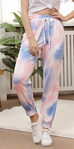 tie-dyed jogger pants