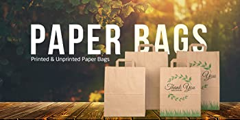 printed and unprinted paper bags for all ocassions, multi use, multipurpose
