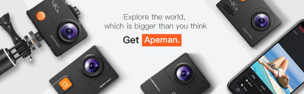 apeman action camera gopro vlogging camera sport camera