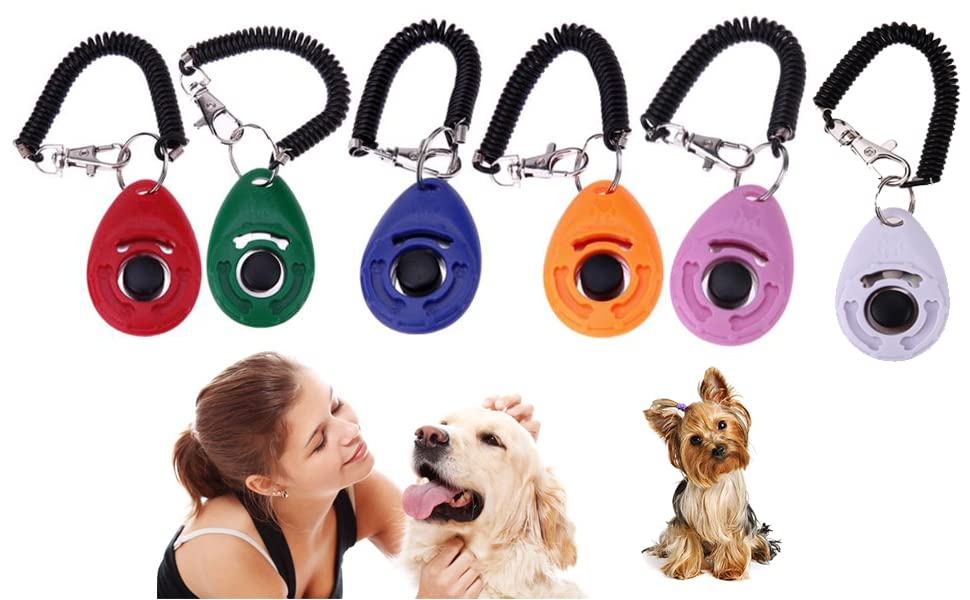 Pet Training Clicker Dog Training Clicker Dog Clickers with Wrist Bands Pet Dog Training Clicker