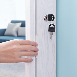 lockable with keys