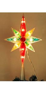 Christmas Colorful Bethlehem StarTree Topper