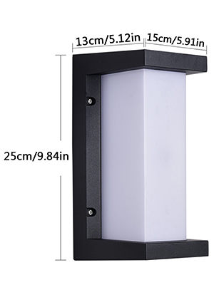 18W LED Apliques de Pared Modernos Exterior Impermeable IP65 ...