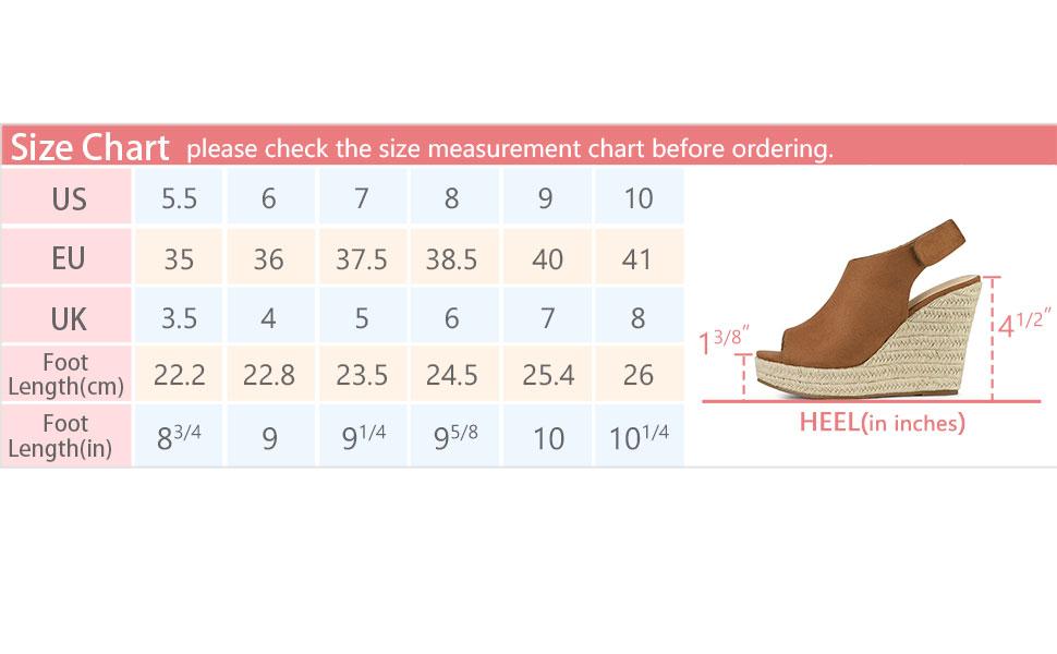 Allegra K Women's Slingback Platform Wedges Heel Espadrille Wedge Sandals