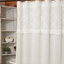 close up of shower curtain details