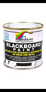 Chalkboard Blackboard Paint Black Brush on Wood, Metal, Glass, Wall, Plaster Boards Sign, Frame