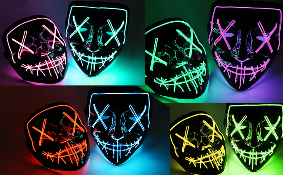mask-light up