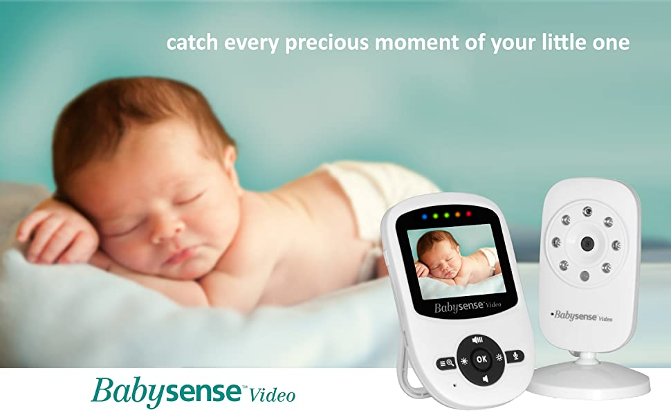 Babysense video Monitor with camera - capture every precious moment of your baby