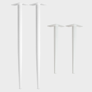 konisch pulverbeschichtete Stahlbeine h/öhenverstellbarer Bodenschutz integriert 42cm DIY | Bank//Couchtisch , Industrial 4mm Grundplatte 4x Natural Goods Berlin Conical Legs Tischbeine
